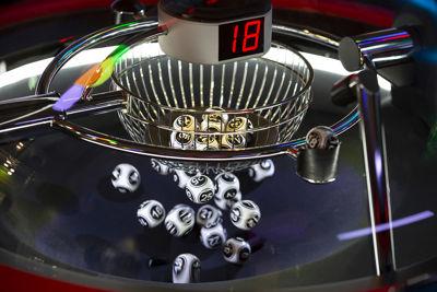 Bingo Balls in Machine at Local Bingo Hall