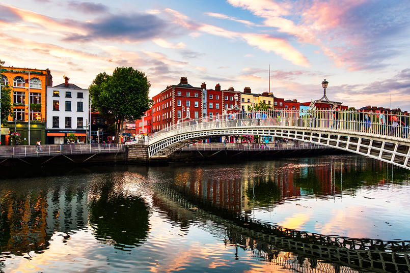 Penny Bridge in Dublin